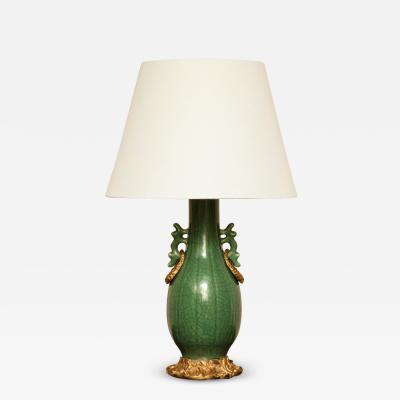 Bronze Mounted Porcelain Lamp