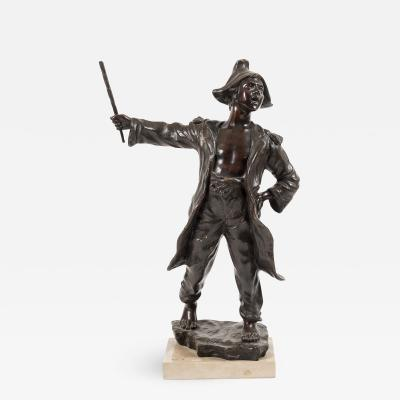Bronze Sculpture of a Young Country Boy
