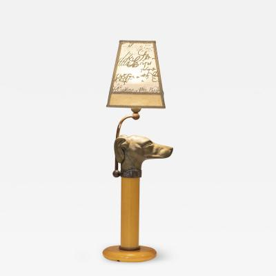 Bronze and opaline glass table lamp