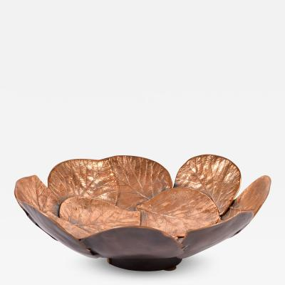 Bronze layered Leaf bowl