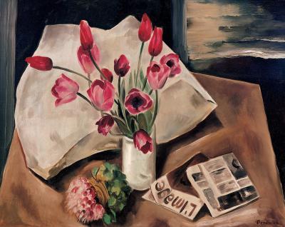 Bror Julius Olsson Nordfeldt Red Tulips Paris