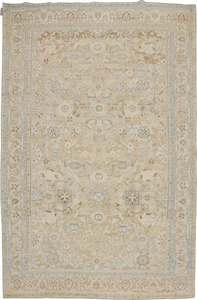 Brown Blue Vintage Malayer rug no j2000