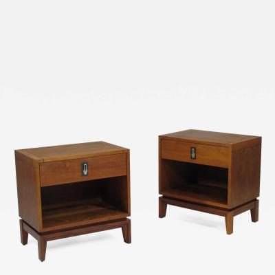 Brown Saltman Brown Saltman Walnut Nightstands