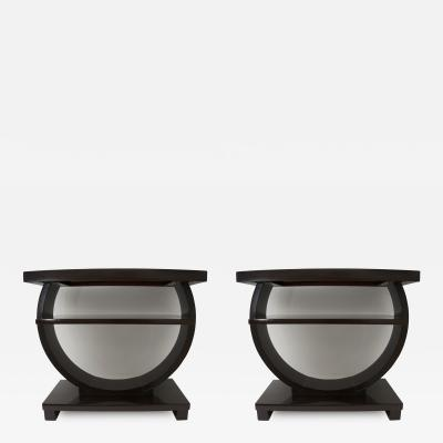 Brown Saltman Pair of American Art Deco Side Tables