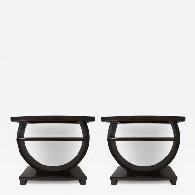 Brown Saltman Pair of Art Deco Side Tables