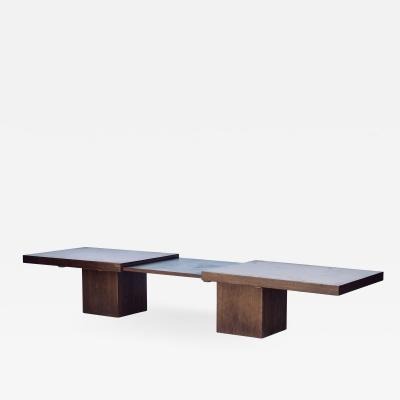 Brown Saltman Smart Extendable Modernist Walnut Coffee Table by John Keal for Brown Saltman
