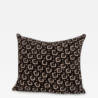 Brown and Beige Print Cotton Cushion