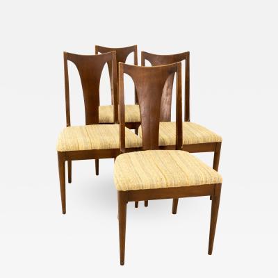 Broyhill Brasilia Mid Century Walnut Dining Chairs Set of 4