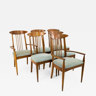 Broyhill Sculptra Mid Century Dining Chairs Set of 6