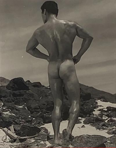 Bruce of LA Photograph Man on a Beach Circa 1940