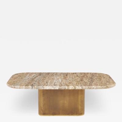 Brueton Brass Base Granite Top Coffee Table 1970