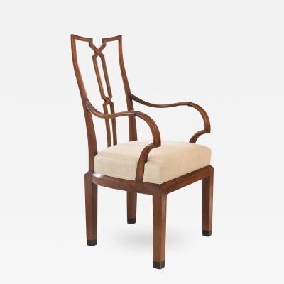Bruno Ernst Scherz A Rare if not Unique German Carved Walnut Armchair