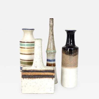 Bruno Gambone Bruno Gambone Collection of the Rare Mini Italian Ceramic Bottles