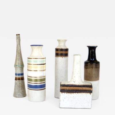 Bruno Gambone Bruno Gambone Italian Ceramic Miniatures Collection of Five Vases