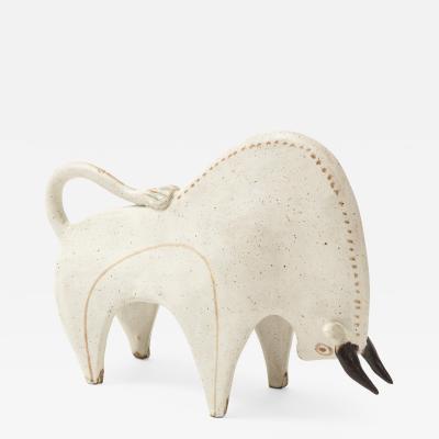 Bruno Gambone Ceramic Bull by Bruno Gambone