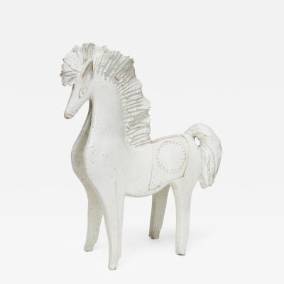 Bruno Gambone Mid Century Modern glazed ceramic horse by Bruno Gambone Italy