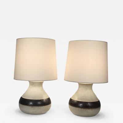 Bruno Gambone Pair of Ceramic Lamps by Bruno Gambone