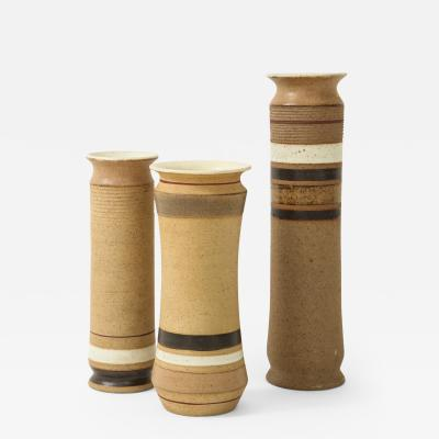 Bruno Gambone Set of 3 Ceramic Vases