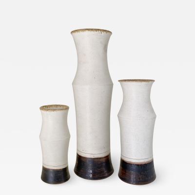 Bruno Gambone Set of Three Bruno Gambone Vases