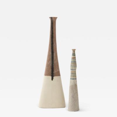Bruno Gambone Set of Two Ceramic Vases by Bruno Gambone
