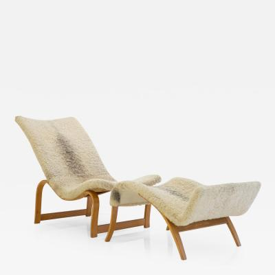 Bruno Mathsson Bruno Mathsson Model 36 Easy Chair with Footrest