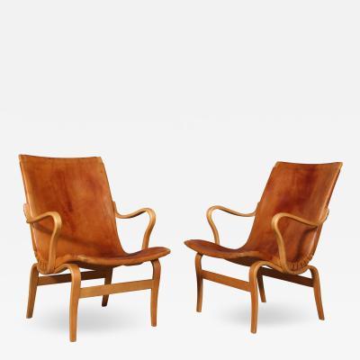 Bruno Mathsson Bruno Mathsson Pair of armchairs model Eva 2