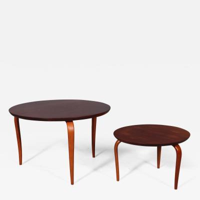 Bruno Mathsson Bruno Mathsson for Dux pair of Mahogany side tables model Annika 2