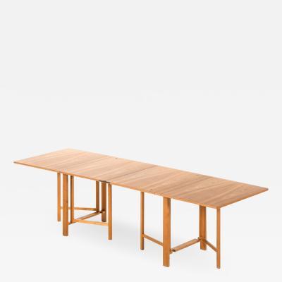 Bruno Mathsson Dining Table Model Maria Flap Produced by Karl Mathsson