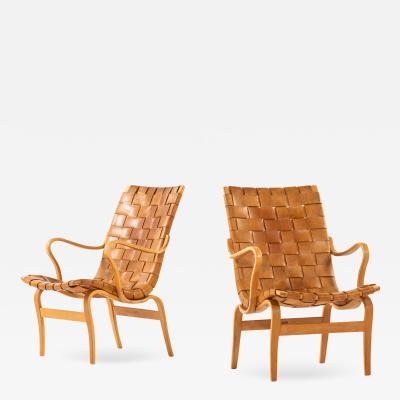 Bruno Mathsson Easy Chairs Model Eva Produced by Karl Mathsson
