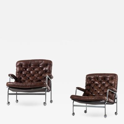 Bruno Mathsson Easy Chairs Model Karin Produced by DUX