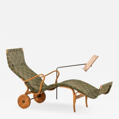 Bruno Mathsson Lounge Chair Model Pernilla Produced by Karl Mathsson
