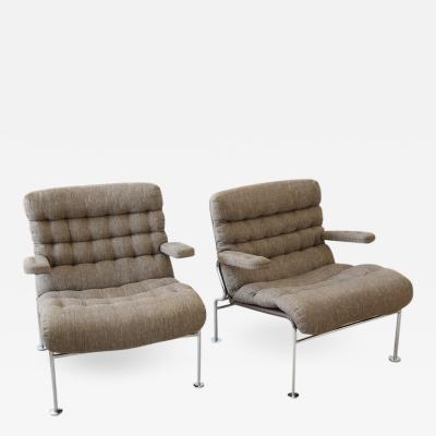 Bruno Mathsson Pair Birgitta Armchairs for DUX