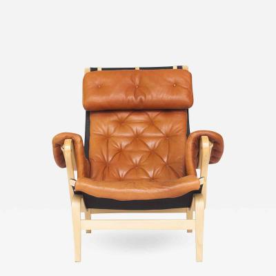 Bruno Mathsson Pernilla 69 Red Brown Leather