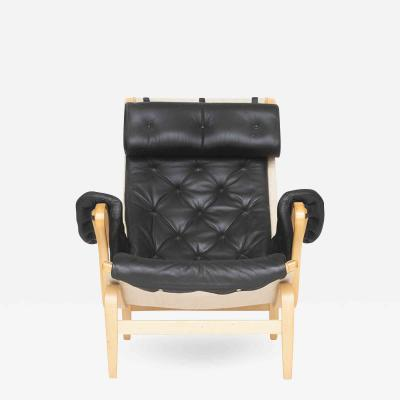 Bruno Mathsson Pernilla 69 in Black Leather