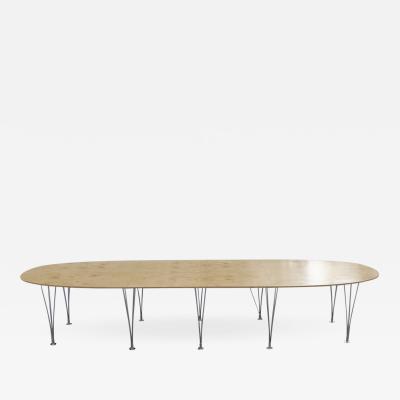 Bruno Mathsson Rare Bruno Mathsson Piet Hein Masur Birch Superellipse Dining Table