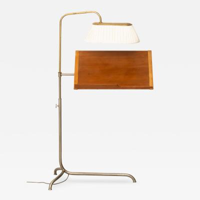 Bruno Mathsson Reading Stand with Light Produced by Karl Mathsson
