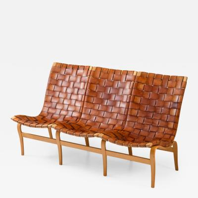 Bruno Mathsson Scandinavian Midcentury Leather Sofa Eva by Bruno Mathsson