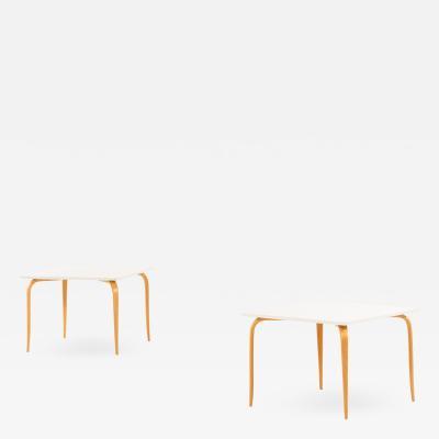 Bruno Mathsson Side Tables Model Annika Produced by Karl Mathsson
