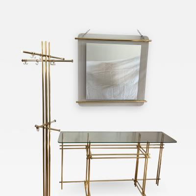 Bruno Zevi Entrance Hall Set Console Mirror and Coat Hanger