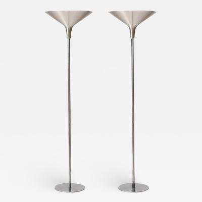Brushed Aluminum Torchiere