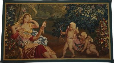 Brussels Tapestry Fragment Venus and Adonis with Cupid