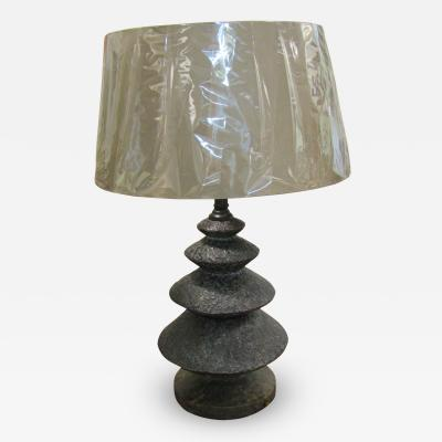 Brutalist Bronze Lamp