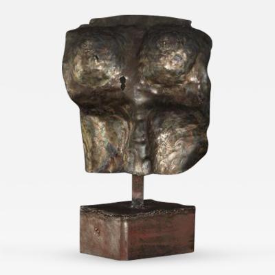 Brutalist Bronze Sculpture of a Female Torso
