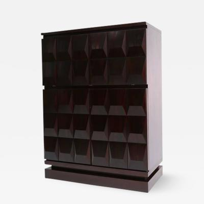 Brutalist Diamond Bar Cabinet