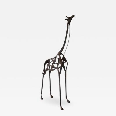 Brutalist Giraffe Form Sculpture