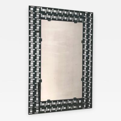 Brutalist Iron Frame Mirror