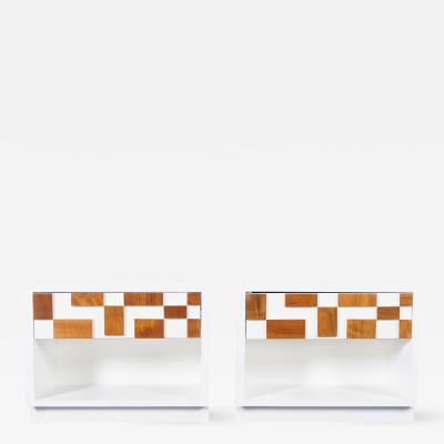 Brutalist Mosaic Nightstands by Lane