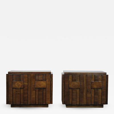 Brutalist Nightstands by Lane