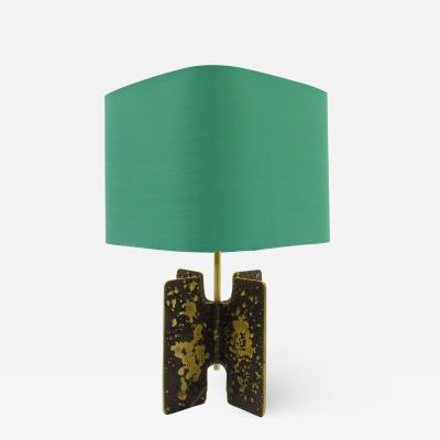 Brutalist Table Lamp in Brass circa 1960s