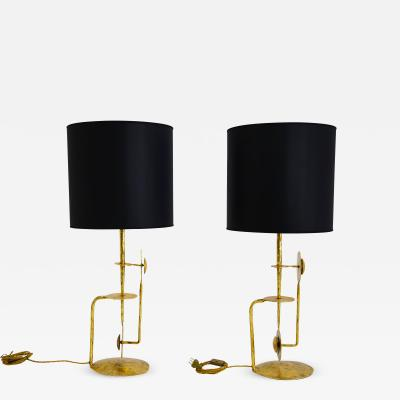 Brutalist table lamps